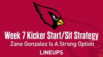 Week 7 K Start, Sit: Who to Play at Kicker: Zane Gonzalez a Strong Option Against Seahawks