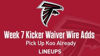 Week 7 Kicker Waiver Wire Pickups & Adds: Pick Up Koo Already