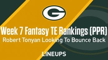 Week 7 Fantasy Football TE Rankings (PPR): Robert Tonyan looking for a bounce back week