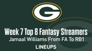 Top 8 Fantasy Football Streamers Week 7 (PPR): Jamaal Williams from FA to RB1