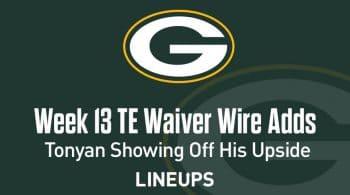 Week 13 TE Waiver Pickups & Adds: Robert Tonyan Shows Off Weekly Upside