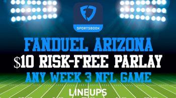 FanDuel Arizona Users Get a $10 Risk-Free Parlay For Thursday Night Football