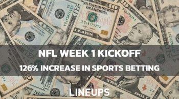NFL Week 1 Kickoff Sees 126% Increase in Sports Betting