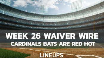 MLB Week 26 Hitting Waiver Wire: High Upside Plays For The Final Week
