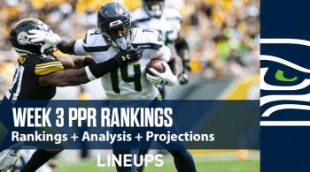 NFL Week 3 PPR Rankings: Seahawks Keep Soaring, Saquon Barkley Back in the Top Ten