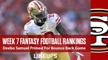 NFL Week 7 PPR Rankings: Bye-Pocalypse Leaves Fantasy Managers Scrambling