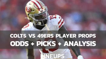 Indianapolis Colts vs. San Francisco 49ers Player Props (10/24/21)